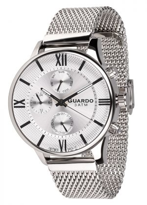 Zegarek Męski Guardo Premium 11419-2 na bransolecie mesh