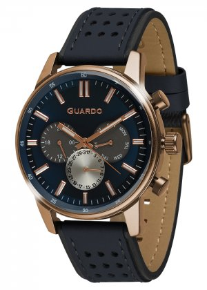 Zegarek Guardo 007576-2 Różowe Złoto