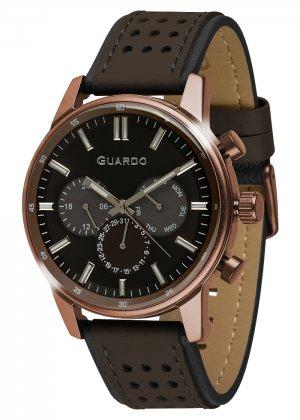 Zegarek Guardo 007576-5 Brązowy