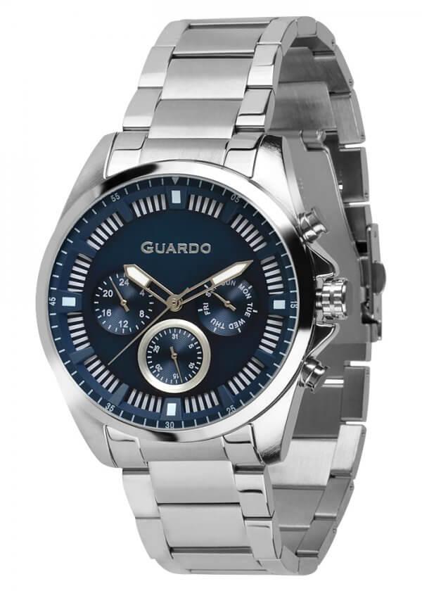 Zegarek Guardo 011123-1 Srebrny