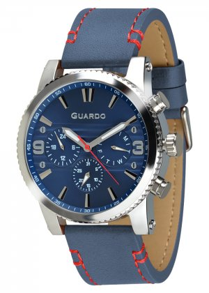 Zegarek Guardo 011401-2 Srebrny