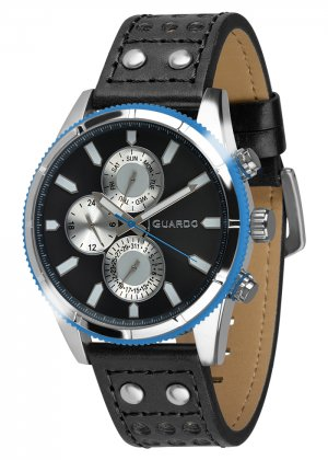 Zegarek Guardo 011447-2 Srebrny