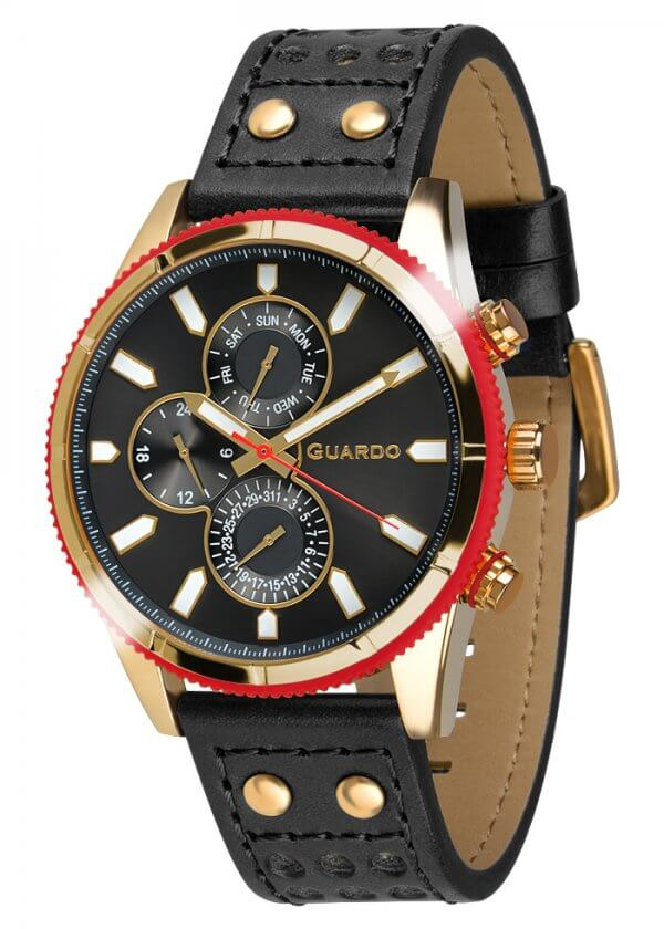 Zegarek Guardo 011447-4 Złoty