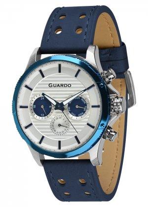 Zegarek Guardo 011456-2 Srebrny / Niebieski