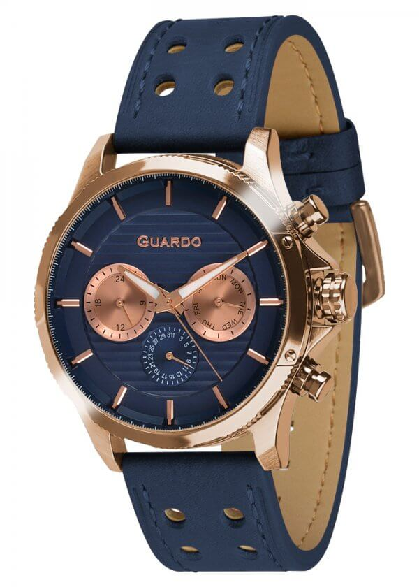 Zegarek Guardo 011456-4 Różowe Złoto