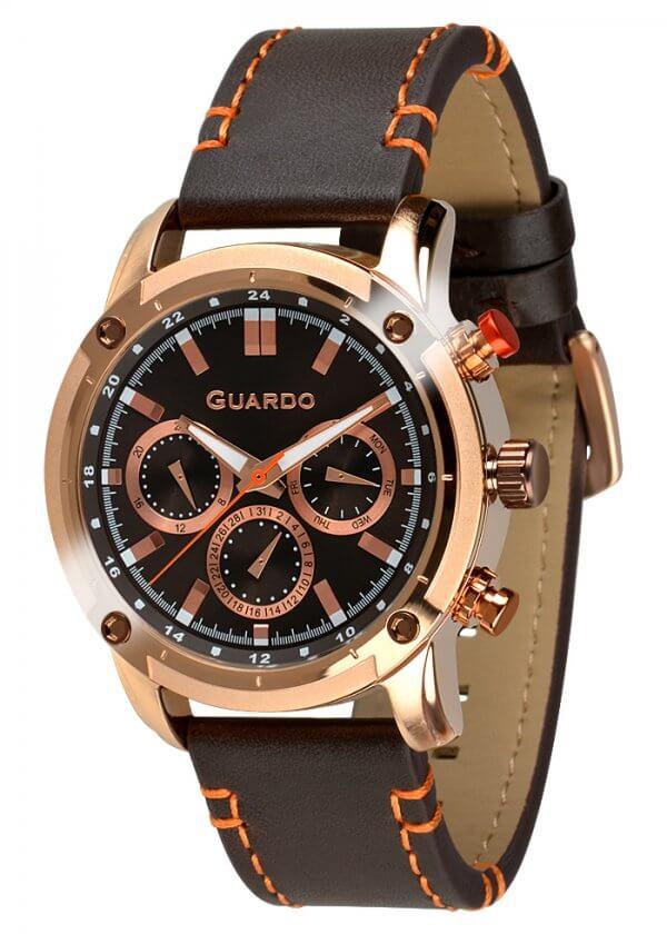 Zegarek Guardo 011645-3 Różowe Złoto