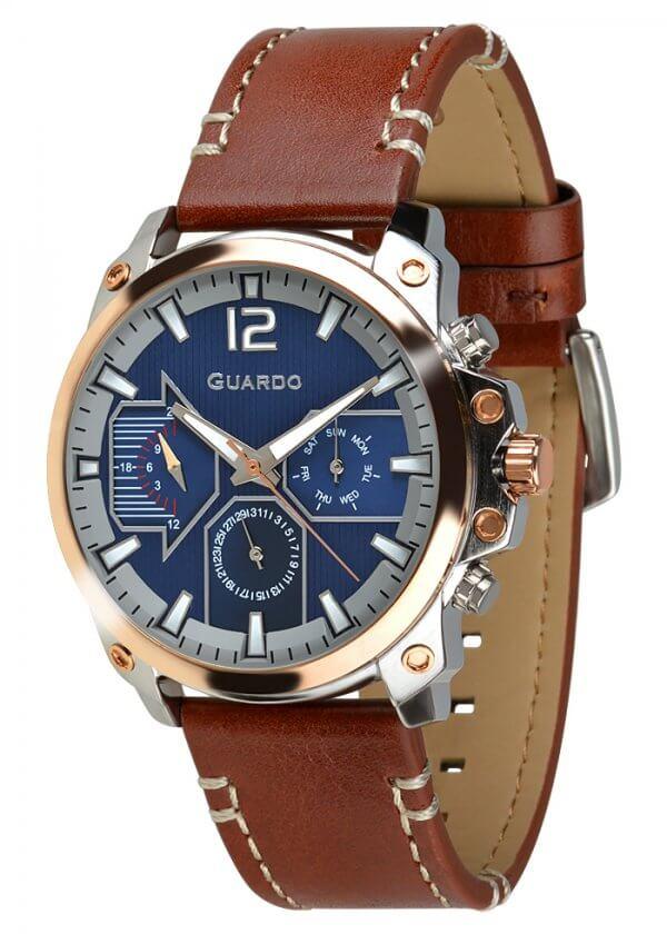 Zegarek Guardo 011998-2 Różowe Złoto
