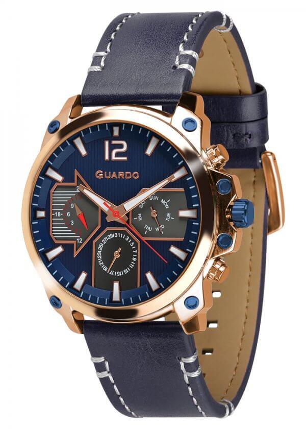 Zegarek Guardo 011998-4 Różowe Złoto