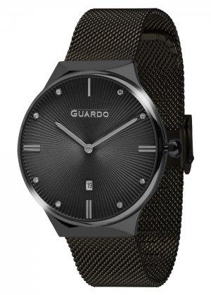 Zegarek Guardo 012473(1)-8 Czarny