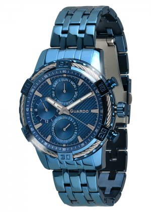 Zegarek Guardo B01352(1)-7 Niebieski