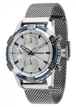 Zegarek Guardo B01352(2)-2 Srebrny