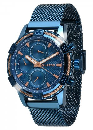 Zegarek Guardo B01352(2)-6 Niebieski