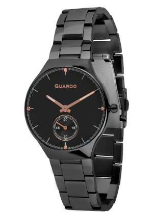 Zegarek Guardo B01398(2)-6 Czarny
