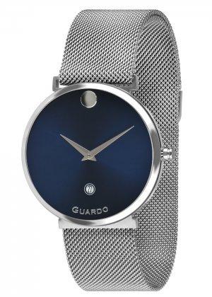 Zegarek Guardo B01402-2 Srebrny