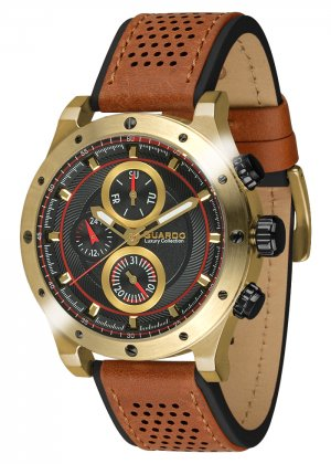 Męski zegarek Na pasku Guardo S01355-5