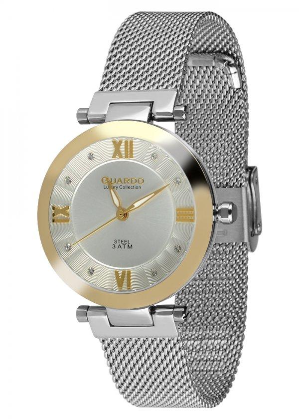 Damski zegarek Na bransolecie mesh Guardo S02071-2