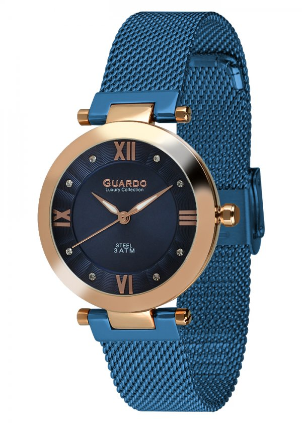 Damski zegarek Na bransolecie mesh Guardo S02071-5