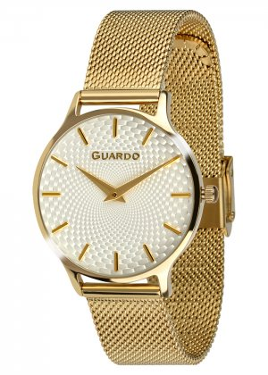 Zegarek Guardo 012516-4 NA BRANSOLECIE MESH. Kolekcja Damska