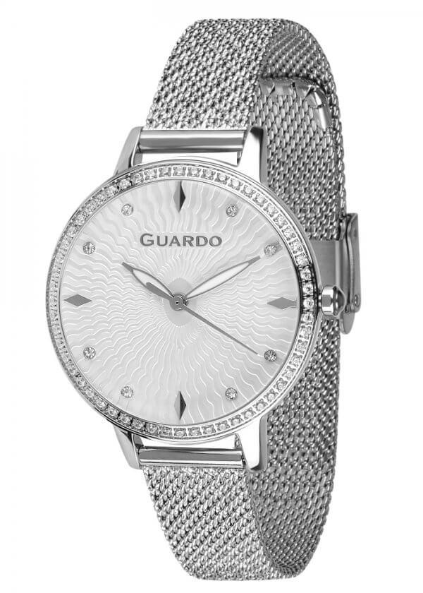 Zegarek Guardo B01340(2)-1 NA BRANSOLECIE MESH. Kolekcja Damska