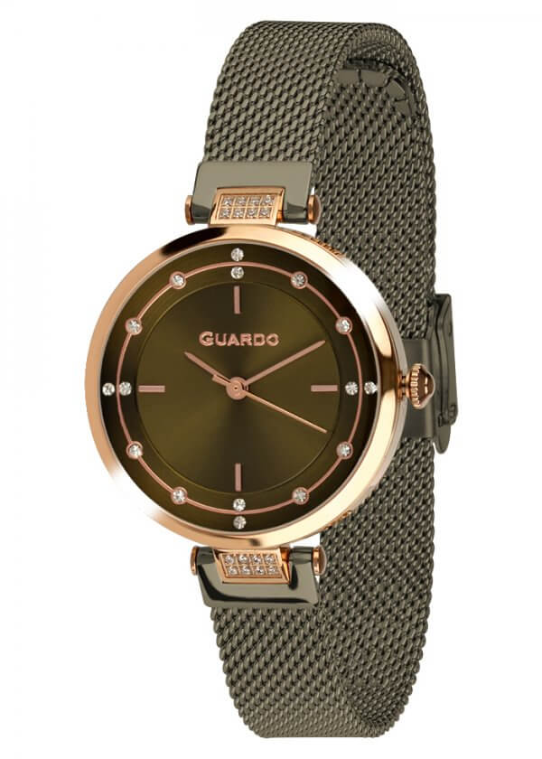 Zegarek Guardo T01061(1)-6 NA BRANSOLECIE MESH. Kolekcja Damska