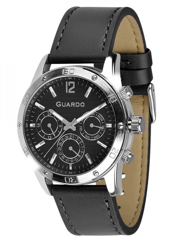 Zegarek Męski Guardo Premium 011168-1 na pasku