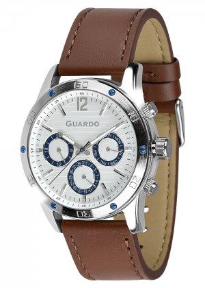 Zegarek Męski Guardo Premium 011168-2 na pasku