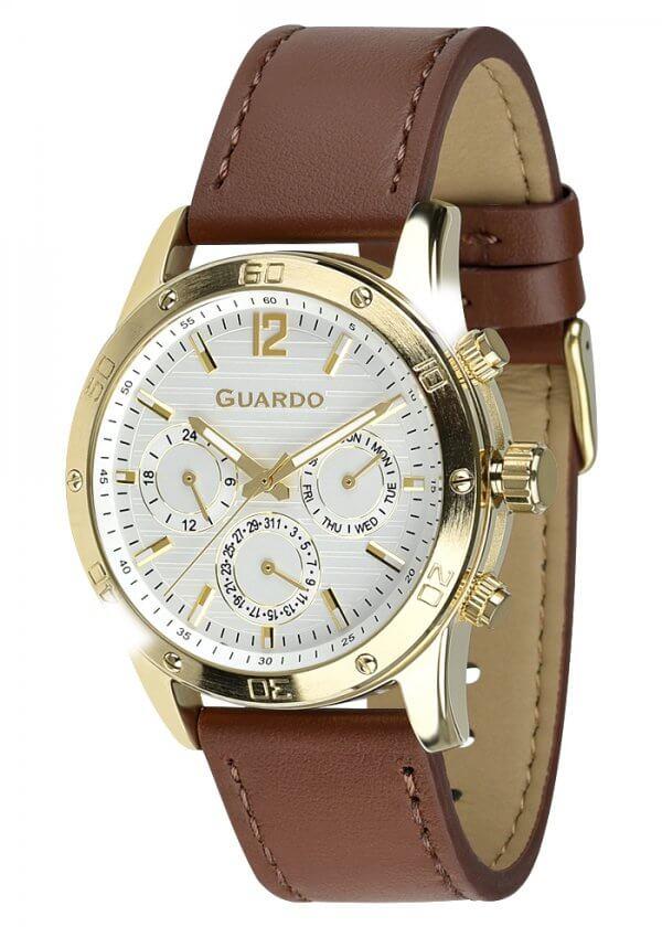 Zegarek Męski Guardo Premium 011168-4 na pasku