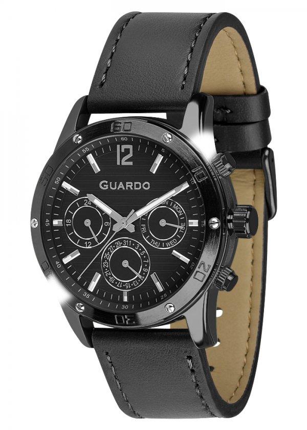 Zegarek Męski Guardo Premium 011168-5 na pasku