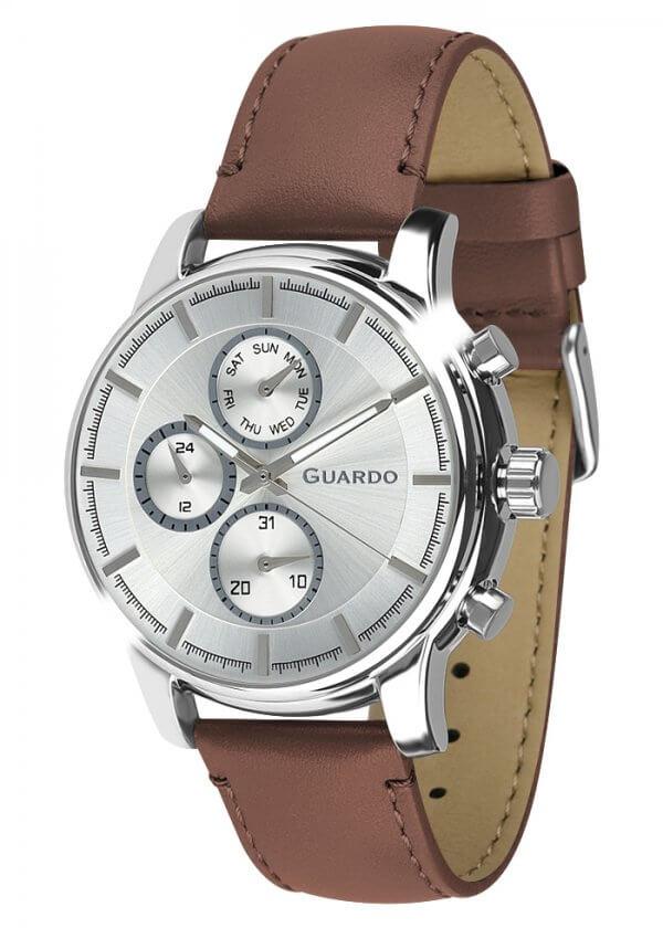 Zegarek Męski Guardo Premium 011420-4 na pasku