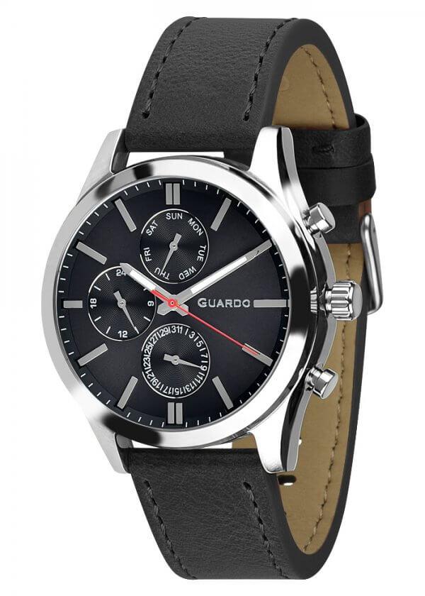 Zegarek Męski Guardo Premium 011648-1 na pasku