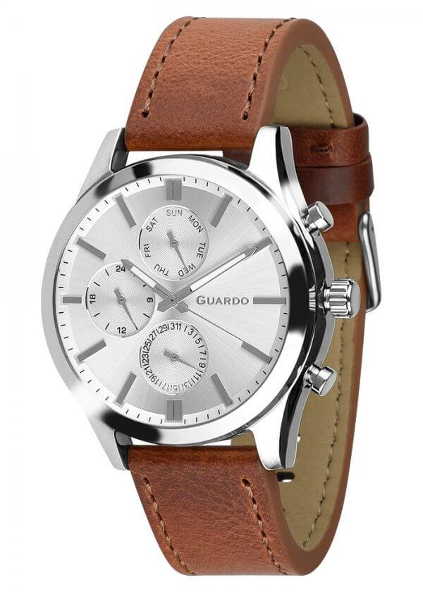 Zegarek Męski Guardo Premium 011648-2 na pasku