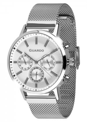 Zegarek Męski Guardo Premium 012077-1 na bransolecie mesh