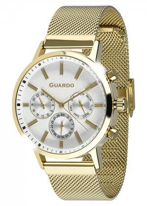 Zegarek Męski Guardo Premium 012077-5 na bransolecie mesh