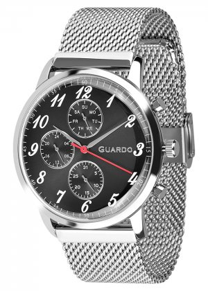 Zegarek Męski Guardo Premium 012238-1 na bransolecie mesh