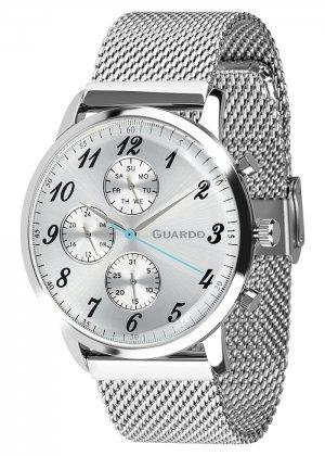 Zegarek Męski Guardo Premium 012238-2 na bransolecie mesh