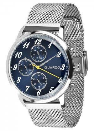 Zegarek Męski Guardo Premium 012238-3 na bransolecie mesh