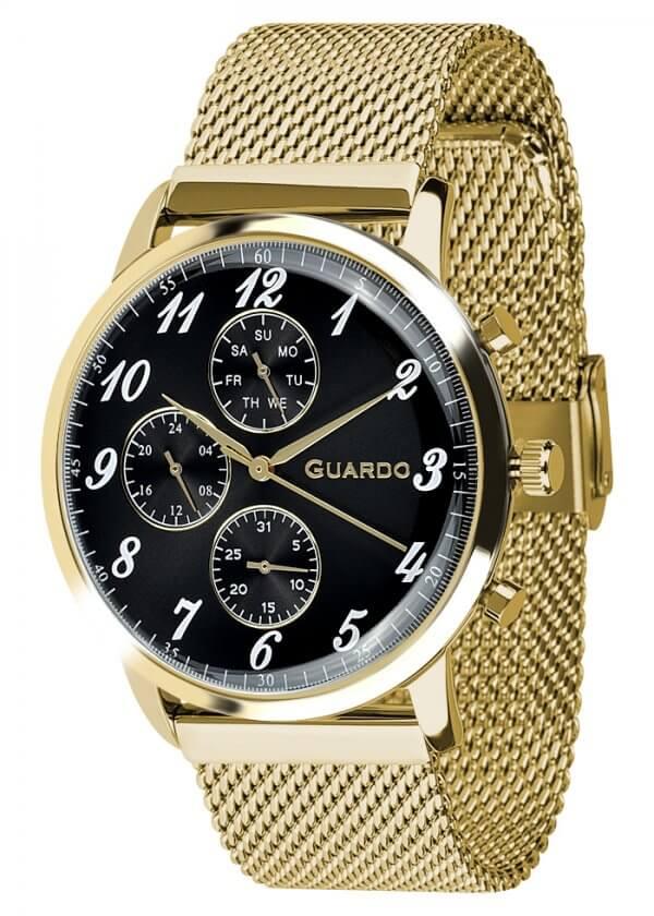 Zegarek Męski Guardo Premium 012238-4 na bransolecie mesh