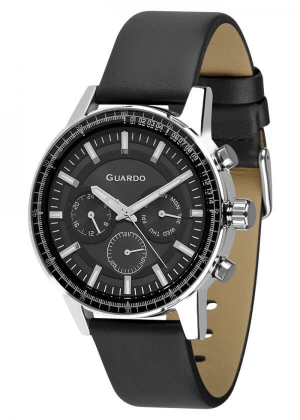 Zegarek Męski Guardo Premium 012287-1 na pasku