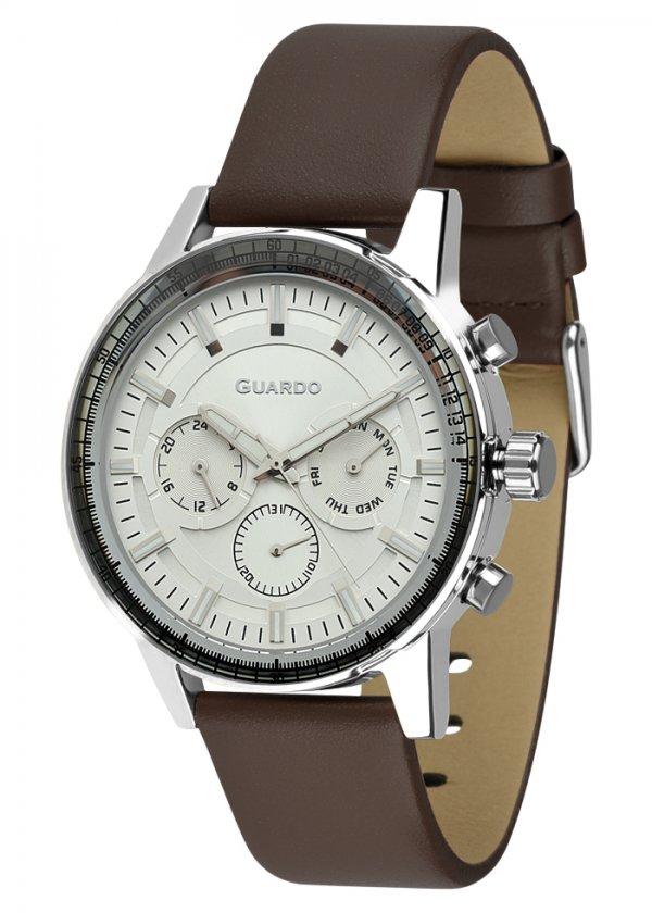 Zegarek Męski Guardo Premium 012287-2 na pasku
