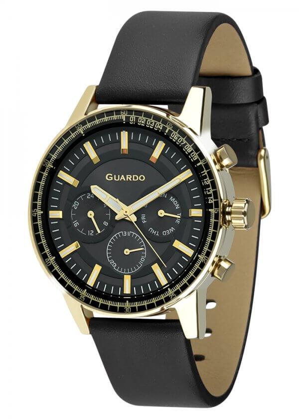 Zegarek Męski Guardo Premium 012287-4 na pasku