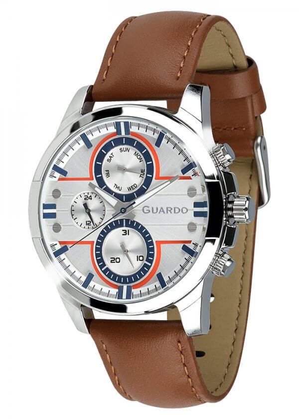 Zegarek Męski Guardo Premium 012313-2 na pasku