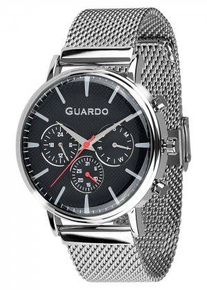 Zegarek Męski Guardo Premium 012445-1 na bransolecie mesh