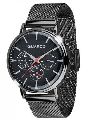Zegarek Męski Guardo Premium 012445-5 na bransolecie mesh