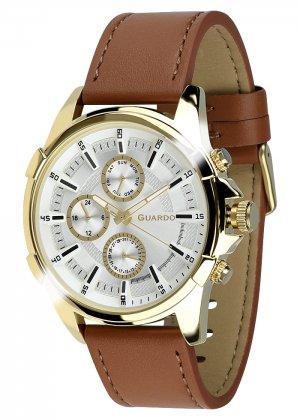 Zegarek Męski Guardo Premium 012469-4 na pasku