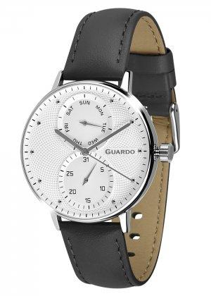 Zegarek Męski Guardo Premium 012522-2 na pasku