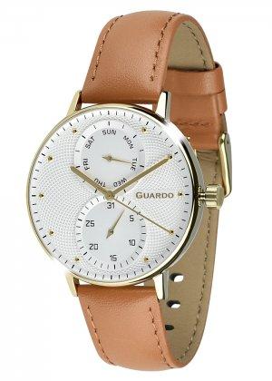 Zegarek Męski Guardo Premium 012522-3 na pasku