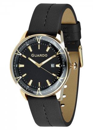 Zegarek Męski Guardo Premium 012651-4 na pasku