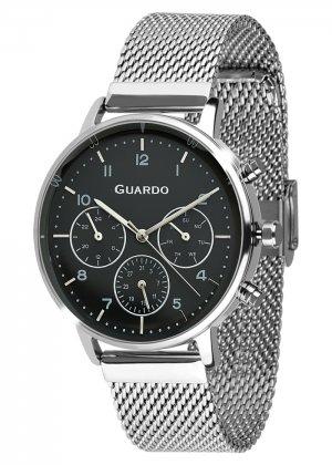 Zegarek Męski Guardo Premium B01116-1 na bransolecie mesh