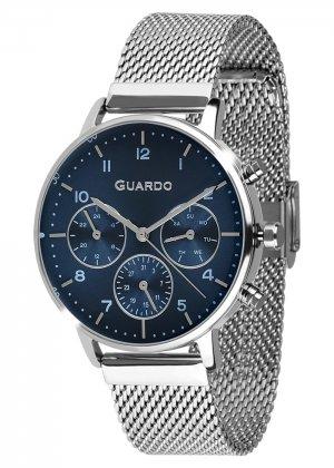 Zegarek Męski Guardo Premium B01116-3 na bransolecie mesh