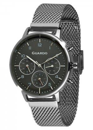 Zegarek Męski Guardo Premium B01116-6 na bransolecie mesh